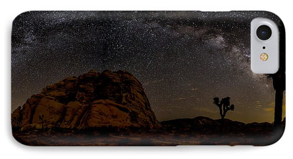 Milky Way Over Joshua Tree IPhone Case by Peter Tellone