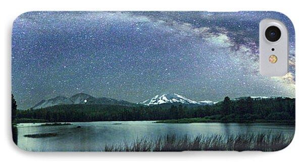 Milky Way Over Manzanita Lake IPhone Case by Walter Pacholka, Astropics