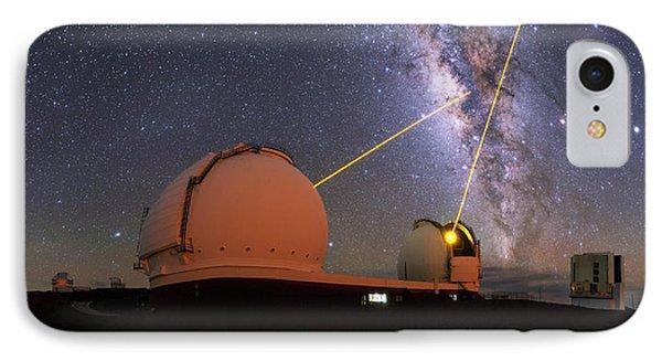 Milky Way Over Mauna Kea Observatories IPhone Case