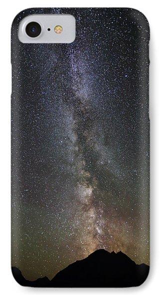 Milky Way Over Mount Logan In Glacier National Park IPhone Case