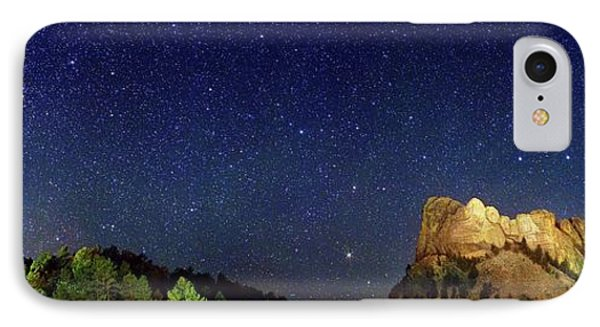 Milky Way Over Mount Rushmore IPhone Case by Walter Pacholka, Astropics