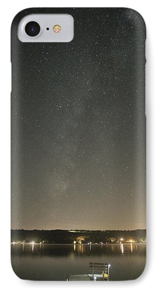 Milky Way Spills Into Conesus IPhone Case by Richard Engelbrecht
