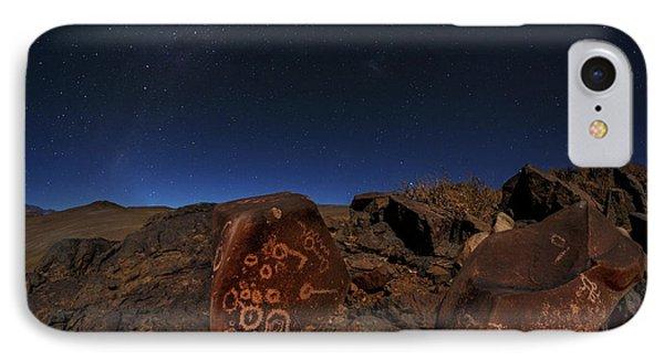 Milky Way Over Petroglyphs IPhone Case by Babak Tafreshi