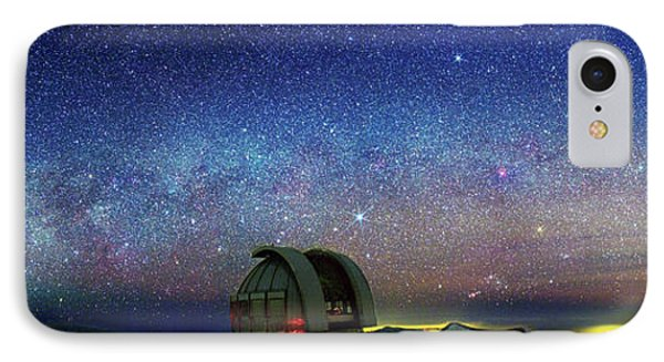 Milky Way Over Telescopes On Hawaii IPhone Case by Walter Pacholka, Astropics
