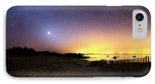 Milky Way Over The Coast IPhone Case