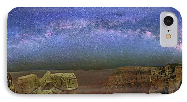 Milky Way Over The Grand Canyon IPhone Case by Walter Pacholka, Astropics