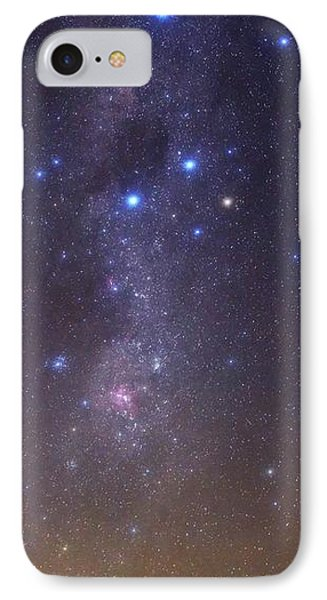 Milky Way Stars And Nebulae IPhone Case by Luis Argerich