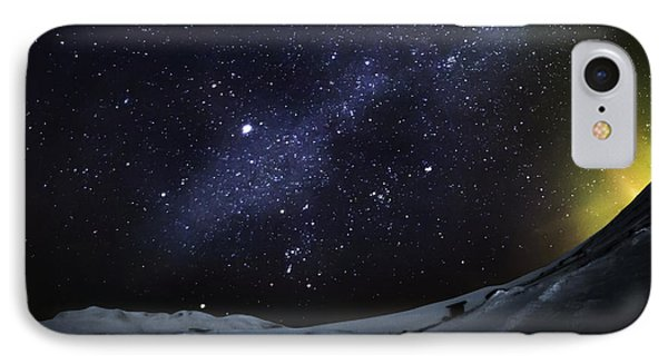 Milky Way With Aurora Borealis Or IPhone Case by Panoramic Images