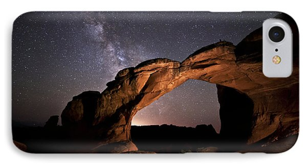Milkyway Over Broken Arch IPhone Case by Melany Sarafis