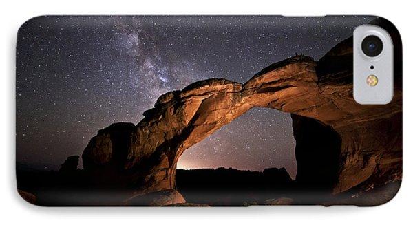 Milkyway Over Broken Arch IPhone Case