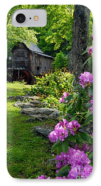 Mill And Rhododendrons IPhone Case
