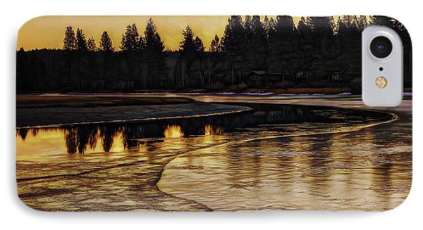 Mill Pond Freeze-d IPhone Case by Nancy Marie Ricketts