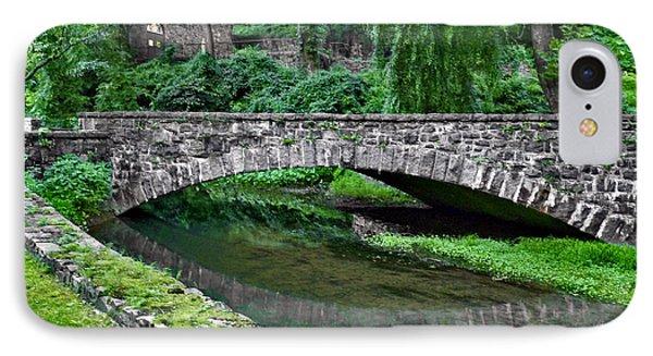 Mill Race Bridge. Hagley Museum. IPhone Case by Chris  Kusik