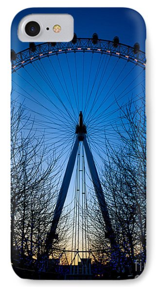 IPhone Case featuring the photograph Millennium Eye London At Twilight by Peta Thames
