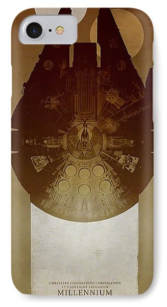 Millennium Falcon IPhone Case by Baltzgar