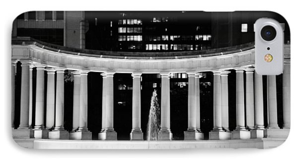 Millennium Monument And Fountain Chicago IPhone Case by Christine Till
