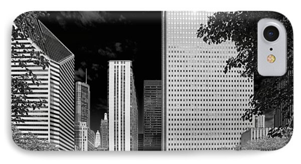 Millennium Park Monument - The Colonnade - Wrigley Square Chicago Phone Case by Christine Till