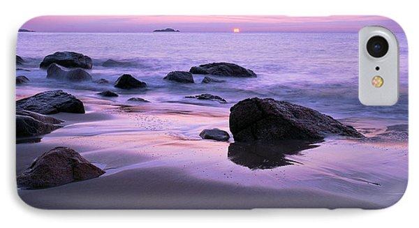 Millennium Sunrise Singing Beach IPhone Case by Michael Hubley