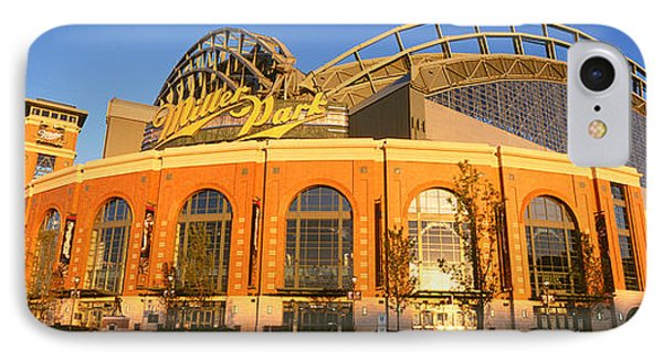 Miller Park Milwaukee Wi IPhone Case by Panoramic Images
