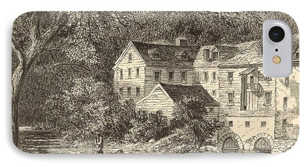 Mills At Rockland Ny 1869 Engraving By John Filmer IPhone Case by Antique Engravings