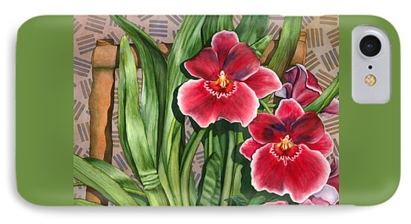 Miltonia Orchids IPhone Case by Lynda Hoffman-Snodgrass