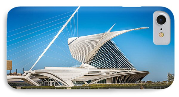 Milwaukee Art Museum Picture In Milwaukee Wisconsin IPhone Case by Paul Velgos