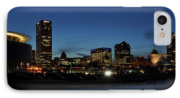 IPhone Case featuring the photograph Milwaukee City Scape Panorama by Deborah Klubertanz