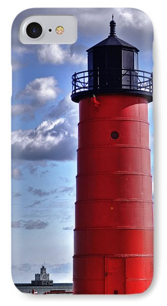 IPhone Case featuring the photograph Milwaukee Pierhead Light by Deborah Klubertanz