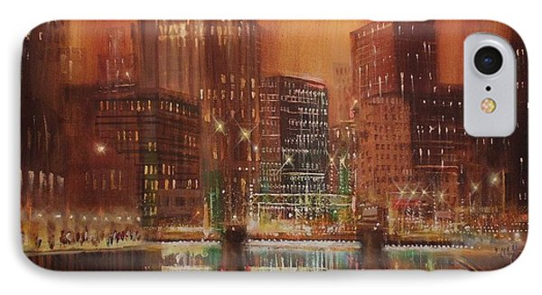 Milwaukee River Downtown Phone Case by Tom Shropshire
