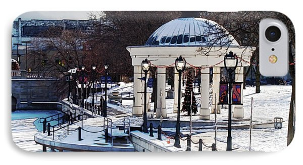 Milwaukee River Walk 3 - Pere Marquette Park - Winter 2013 IPhone Case
