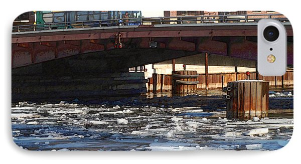Milwaukee River - Winter 2014 IPhone Case by David Blank
