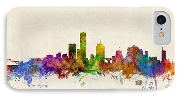 Milwaukee Wisconsin Skyline IPhone Case by Michael Tompsett