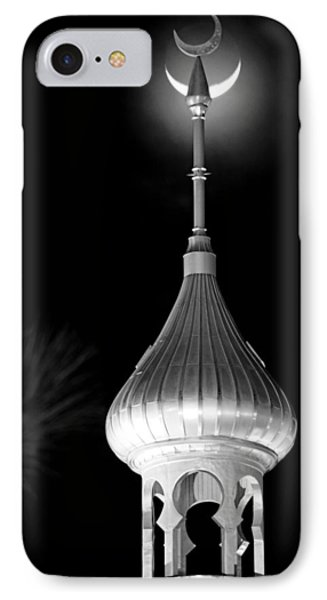 Minaret And Moon Over Tampa IPhone Case