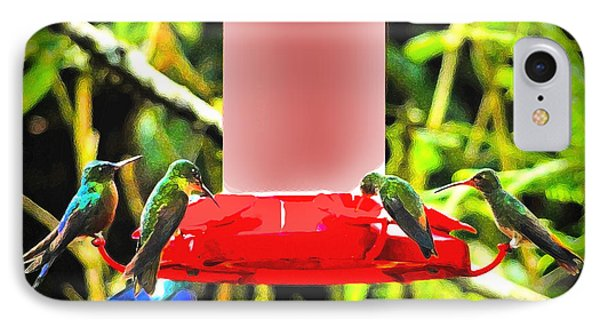 Mindo Hummer Gathering Phone Case by Al Bourassa