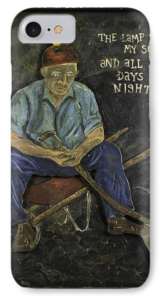 Miner - Lamp Is My Sun IPhone Case by Eric Cunningham