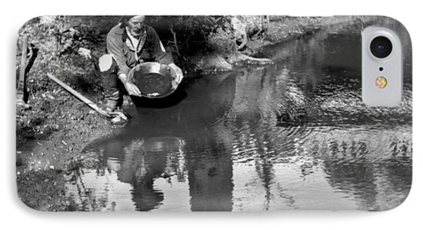 Miner Panning For Gold IPhone Case by Underwood Archives
