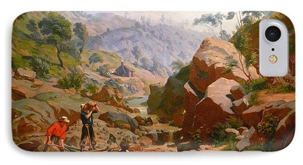 Miners In The Sierras Phone Case by Charles Nahl