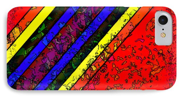 IPhone Case featuring the digital art Mingling Stripes by Bartz Johnson