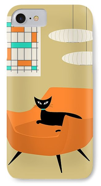 Mini Abstract With Orange Chair IPhone Case