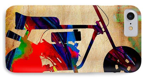 Mini Bike Art IPhone Case by Marvin Blaine