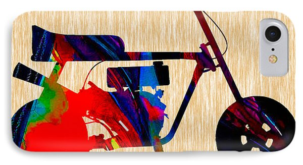 Mini Bike Painting. IPhone Case by Marvin Blaine
