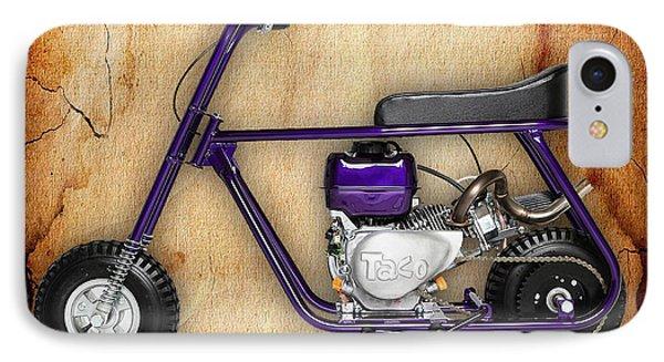Mini Bike Taco 22 IPhone Case by Marvin Blaine