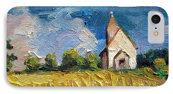 IPhone Case featuring the painting Mini Church by Jieming Wang