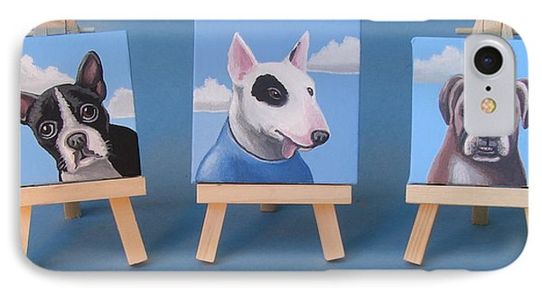 Mini Dog Portraits 2 Phone Case by Stuart Swartz