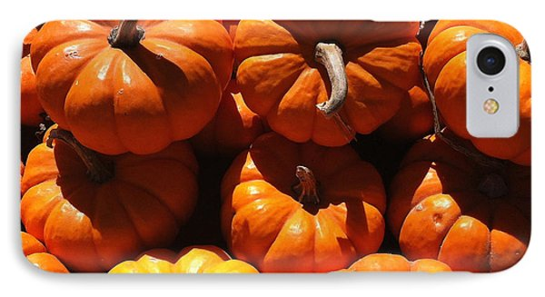 IPhone Case featuring the photograph Mini Fall Pumpkins by Denyse Duhaime