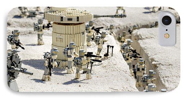 Mini Hoth Battle IPhone Case by Ricky Barnard