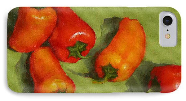 IPhone Case featuring the painting Mini Peppers Study 2 by Margaret Stockdale