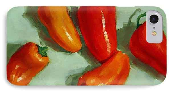 Mini Peppers Study 3 IPhone Case by Margaret Stockdale