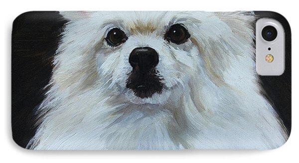 Miniature American Eskimo Dog IPhone Case by Alice Leggett