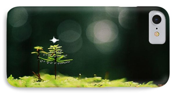 Miniature Christmas Tree IPhone Case by Cathie Douglas